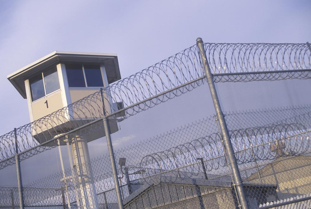 Photo of the exterior of a prison